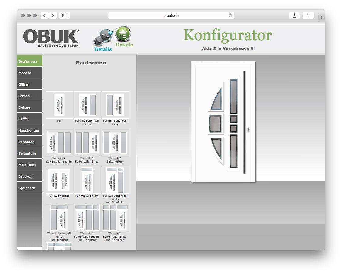 Obuk Türen eine tür nach ihren vorstellungen haustürenkonfigurator